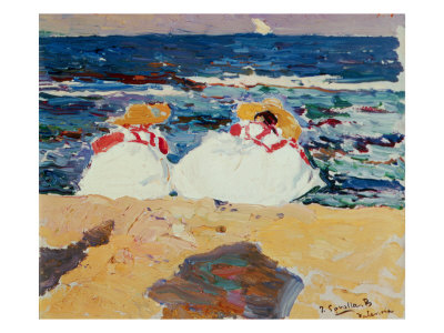 Beach at Valencia Giclee Print