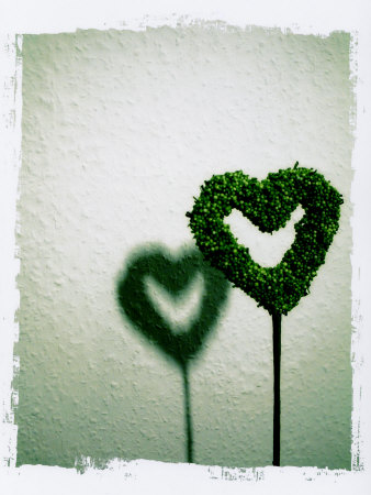 A Green Love Sign with its Shadow Photographic Print by Abdul Kadir Audah