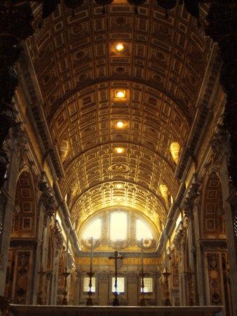 Inside St. Peter's Basilica, Vatican City, Italy Photographic Print by Abdul Kadir Audah