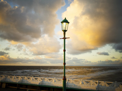 Lamp on North Pier, Blackpool, England, Uk Photographic Print by Kevin Walsh