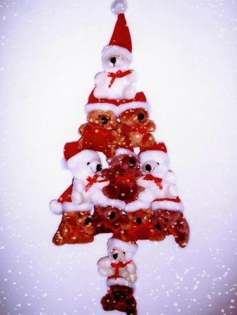 Christmas Tree Made from Teddy Bears Photographic Print by Abdul Kadir Audah