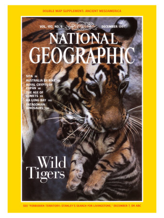 Cover of the December, 1997 Issue of National Geographic Magazine Photographic Print
