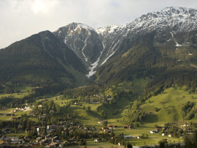 Towns and Chalets Dot the Landscape Near Davos Photographic Print by Annie Griffiths Belt