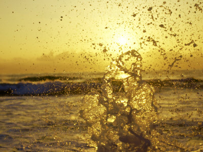 Water Splashing with Sun in the Background Photographic Print by Rob Lang