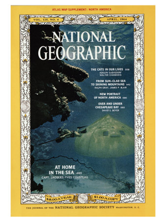Cover of the April, 1964 National Geographic Magazine Photographic Print by Robert Goodman