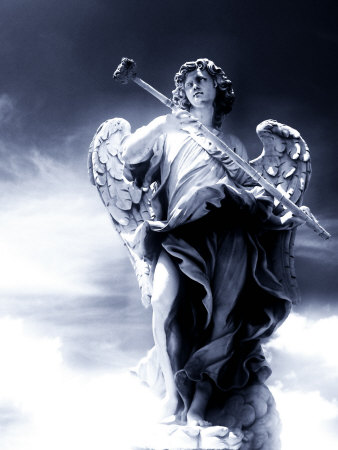 Angel Statue in the Clouds Photographic Print by Abdul Kadir Audah