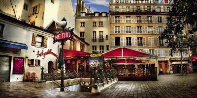 Metro Saint-Michel, Paris Print by Stephane Rey-Gorrrez