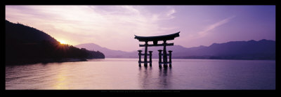 Torii, Itsukushima Shinto Shrine, Honshu, Japan Reproduction d'art