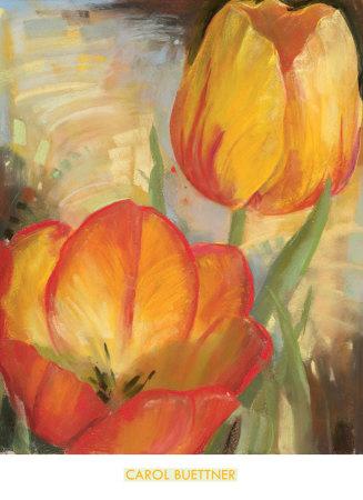 Summer Tulips II Prints by Carol Buettner
