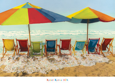 Drink Deep, Begin Another Carefree Day Print by Robin Renee Hix