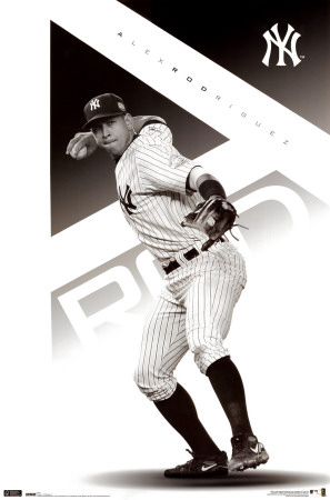 New York Yankees - Alex Rodriguez Affiche