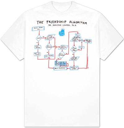 The Big Bang Theory - Friendship Algorithm T-Shirt
