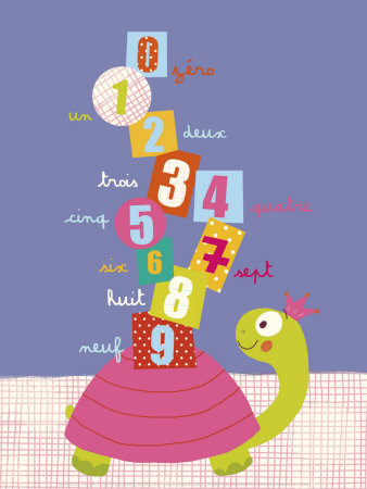 Numbers on a Turtle Posters by Isabelle Jacque