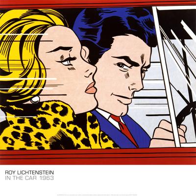 In the Car, c.1963 Plakater af Roy Lichtenstein