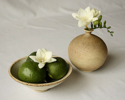Freesia and Limes Prints by Florence Rouquette