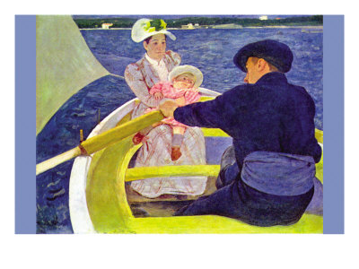 The Boat Travel Poster by Mary Cassatt