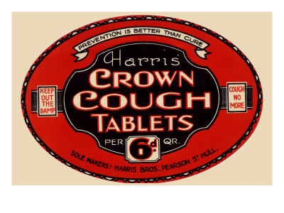 Harris' Crown Cough Tablets Art