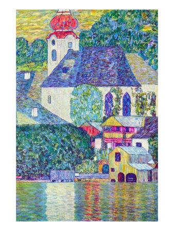 St. Wolfgang Church Posters by Gustav Klimt