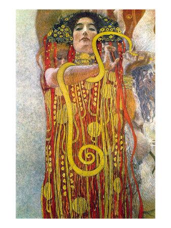 Hygeia Lámina por Gustav Klimt