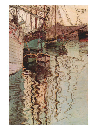 Sailboats In Wollenbewegten Water Premium Poster