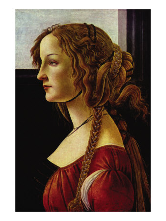 Portrait of Simonetta Vespucci Poster by Sandro Botticelli
