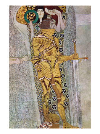 The Beethoven Frieze 2 Prints by Gustav Klimt