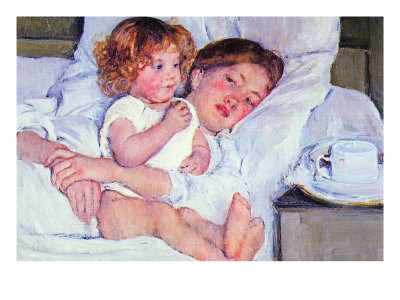 Mother and Baby Posters by Mary Cassatt