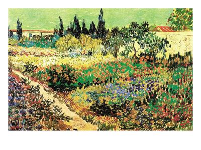Flowering Garden Art by Vincent van Gogh