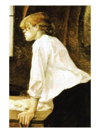 The Laundress Láminas por Henri de Toulouse-Lautrec