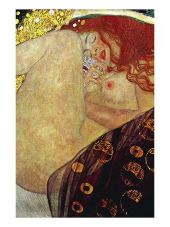 Danae Print by Gustav Klimt