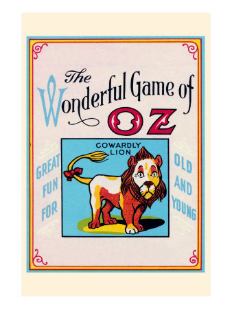 Thewonderful Game of Oz - Cowardly Lion Print by John R. Neill