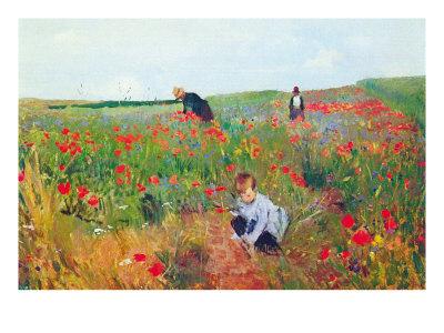 Poppies Art by Mary Cassatt
