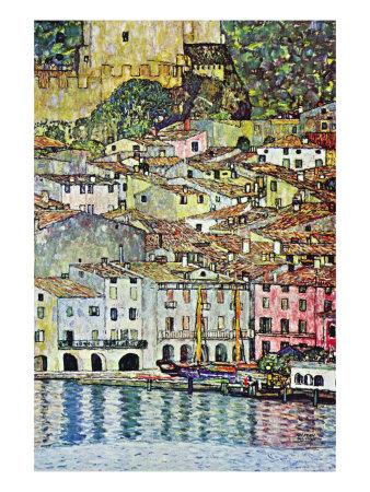Malcena At The Gardasee Prints by Gustav Klimt