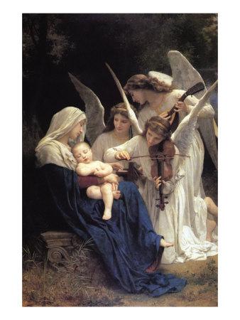 Song of The Angels Láminas por Bouguereau, William Adolphe