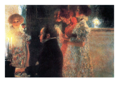 Schubert At The Piano Premium Poster