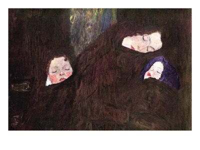 Mother with Children Poster by Gustav Klimt