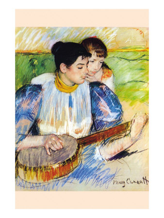 The Banjo Lesson Posters by Mary Cassatt