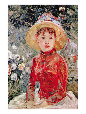 Young Girl Posters by Berthe Morisot