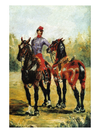 Groom with Two Horses Láminas por Henri de Toulouse-Lautrec
