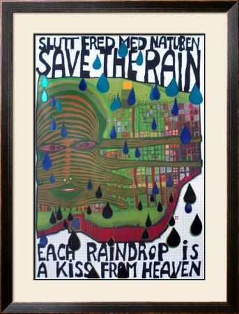 Save the Rain Posters by Friedensreich Hundertwasser