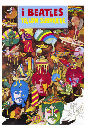 Yellow Submarine, Italian Movie Poster, 1968 Premium Poster