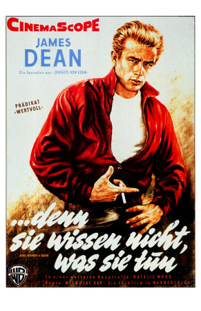 Rebel Without a Cause, German Movie Poster, 1955 Premium Poster