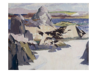 Pulpit Rock, Iona Giclee Print by Francis Campbell Boileau Cadell