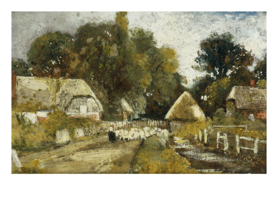 Landscape with Cottages Giclee Print by Frederick Waters Watts