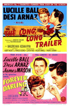 Long, Long Trailer, The / Forever Darling, 1954 Premium Poster