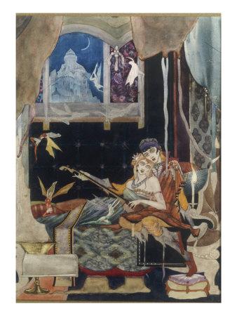 La belle Dame sans Merci, 1915 Giclee Print by Harry Clarke