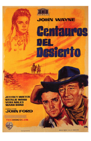 The Searchers, Spanish Movie Poster, 1956 Premium Poster