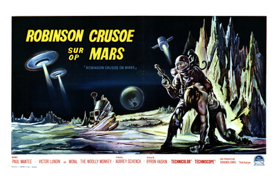 Robinson Crusoe on Mars, Belgian Movie Poster, 1964 Premium Poster