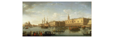 Venice: The Bacino di San Marco, with the Doge's Palace and Entrance to the Grand Canal, 1729 Giclee Print by Hendrik Frans Van Lint