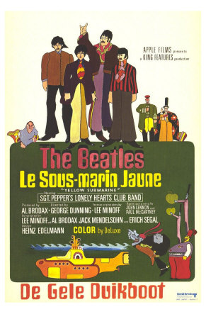 Yellow Submarine, French Movie Poster, 1968 Premium Poster